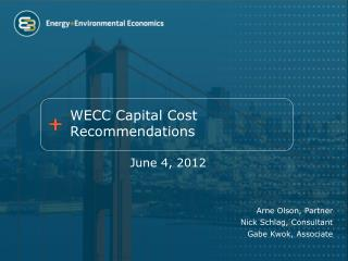 WECC Capital Cost Recommendations