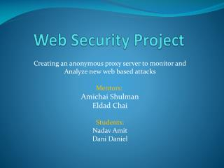 Web Security Project