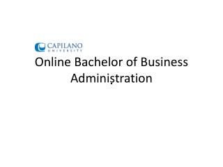 Online Bachelor of Business Administration