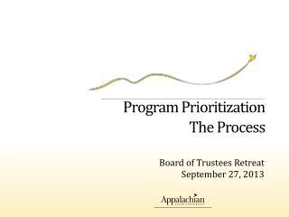 Program Prioritization The Process