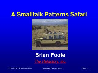 A Smalltalk Patterns Safari