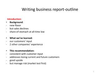 Writing business report-outline