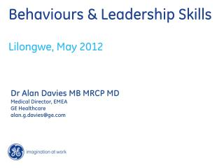Behaviours  & Leadership Skills