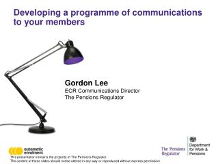 Developing a programme of communications to your members