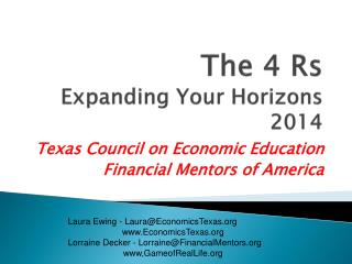 The 4  Rs Expanding Your  Horizons 2014