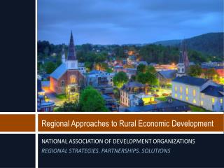 Regional Approaches to Rural Economic Development