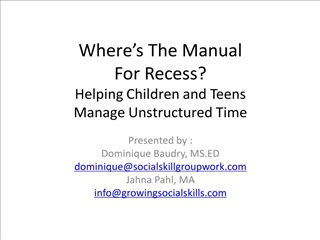 where s the manual for recess helping children and teens  manage unstructured time