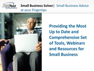 Small Business Solver |   Small Business Advice at your Fingertips