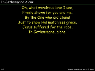 have you had a gethsemane
