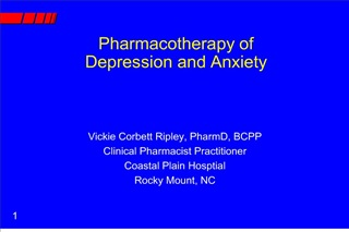 pharmacotherapy of  depression and anxiety