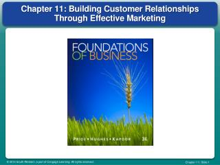Chapter 11: Building Customer Relationships Through Effective Marketing
