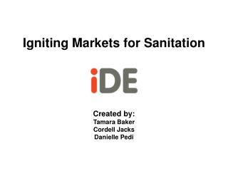 Igniting Markets for Sanitation