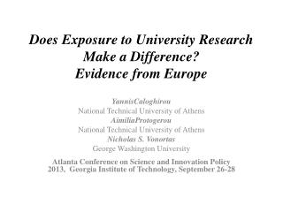 Does Exposure to University Research Make a Difference? Evidence from Europe
