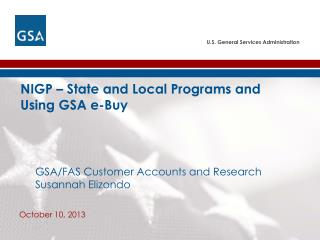 NIGP – State and Local Programs and  Using GSA e-Buy