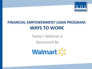 Financial Empowerment Loan Program: Ways to Work