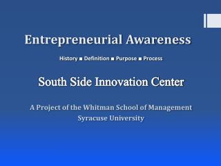Entrepreneurial Awareness