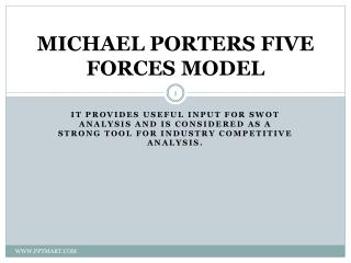 MICHAEL PORTERS FIVE FORCES MODEL