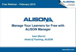 Manage Your Learners for Free with ALISON Manager