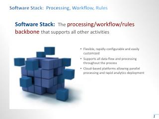 Software Stack:  Processing, Workflow, Rules