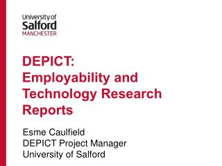 DEPICT:  Employability and Technology Research Reports