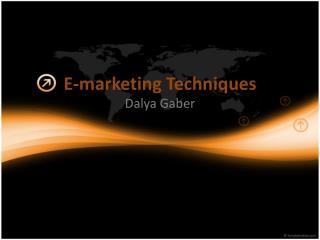 E-marketing Techniques