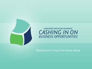 Working and Living in the Same Space