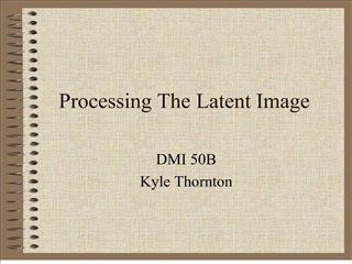 processing the latent image