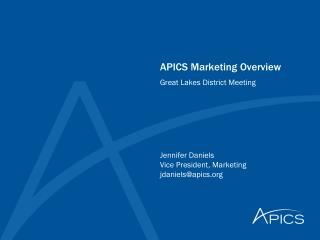 APICS Marketing Overview