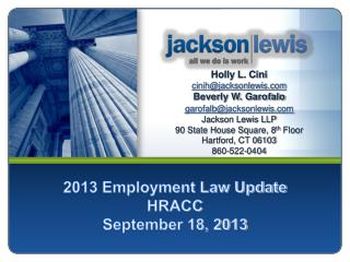 2013 Employment Law Update HRACC September 18, 2013