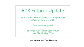 "ADK Futures Update ""The first step to better times is to imagine them"" a Chinese fortune cookie T hen what happens? Adi"
