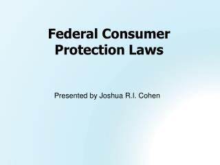Federal Consumer Protection Laws