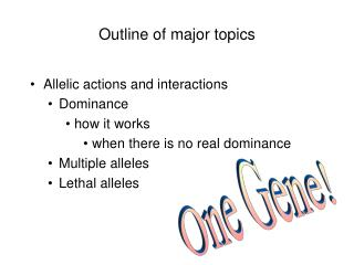Outline of major topics