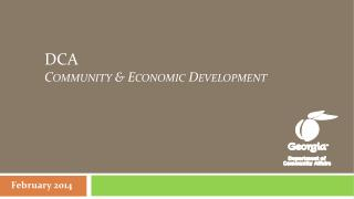 DCA   Community & Economic Development