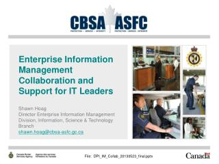 Enterprise Information Management Collaboration and Support for IT Leaders