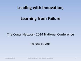 Leading with Innovation, Learning from Failure