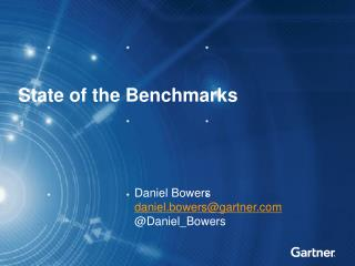 State of the Benchmarks
