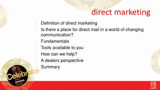d irect marketing