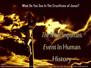 what do you see in the crucifixion of jesus
