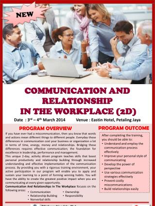 COMMUNICATION AND RELATIONSHIP  IN THE WORKPLACE (2D)
