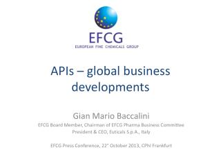 APIs  – global business  developments