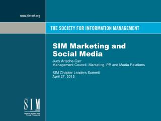 SIM Marketing and Social Media
