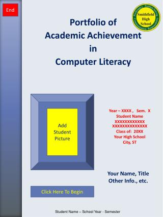 Portfolio of  Academic Achievement  in Computer Literacy