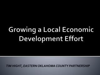Growing  a Local Economic Development Effort