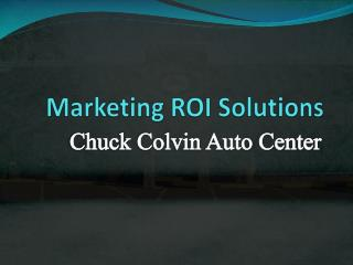 Marketing ROI Solutions