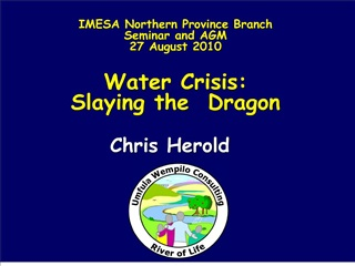 imesa northern province branch seminar and agm 27 august 2010  water crisis:  slaying the  dragon
