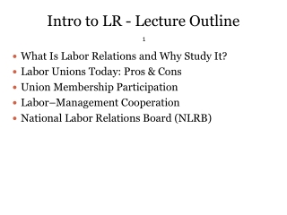 chapter 1  an introduction to labour relations