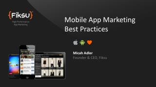 Mobile App Marketing Best Practices