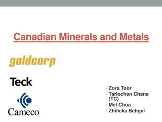 Canadian Minerals and Metals