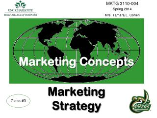 Marketing Concepts Marketing  Strategy