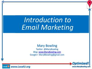 Optimized! www.MaryBowling.com